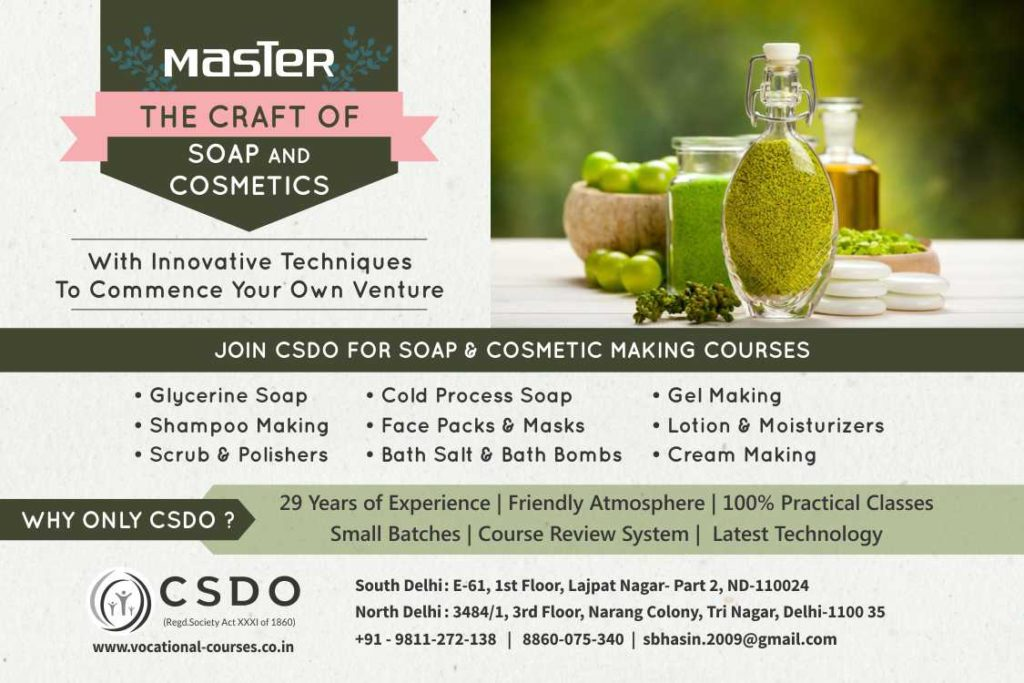 soap and csosmetic classes by csdo