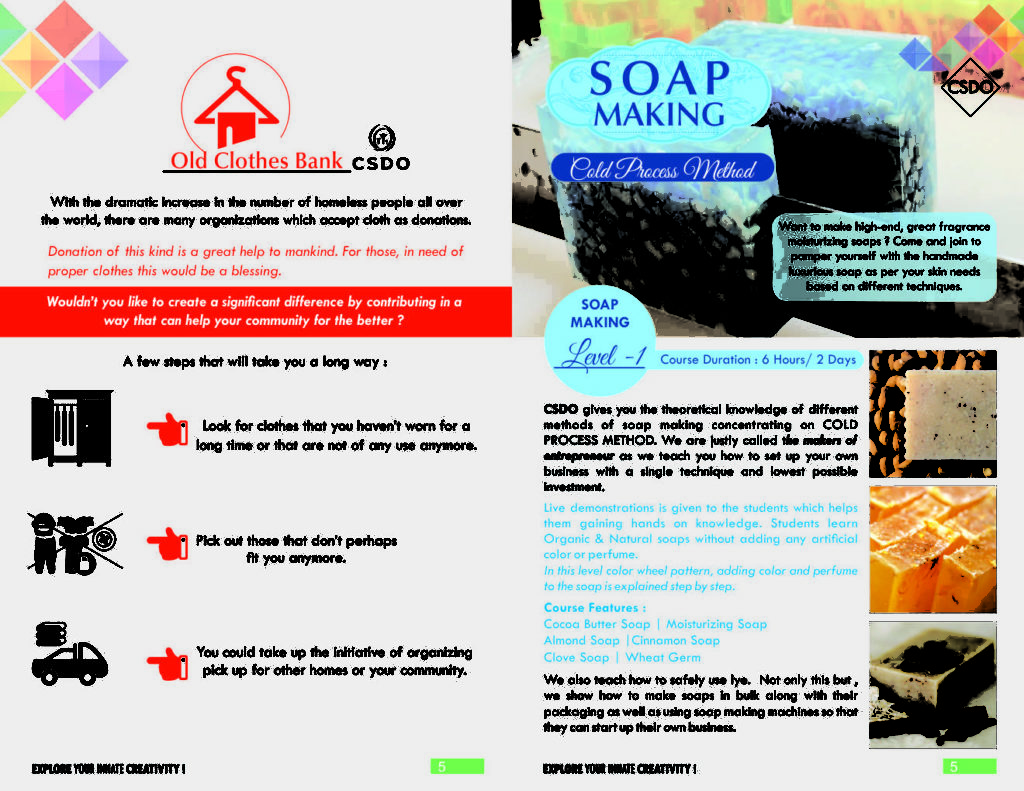 soap and cosmetic making by csdo