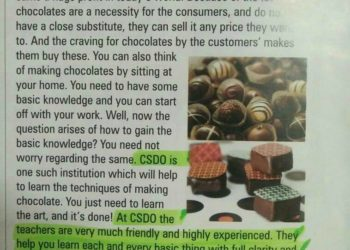 csdo chocolate making professional